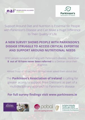 '16.3.2021 NAI co-launches findings of new survey on diet and nutrition among people Parkinson's disease' image