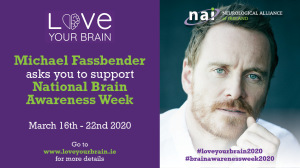 '12.3.2019 Actor Michael Fassbender Supports Brain Awareness Week 2020' image